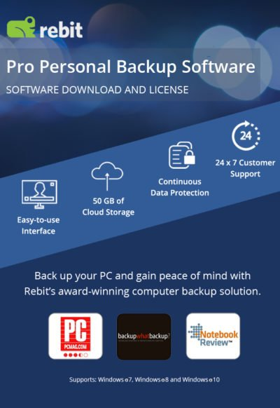 Rebit-Produktabbild für Pro Personal Backup Software