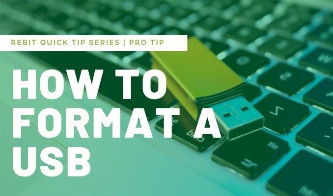 Hur formaterar jag en USB-enhet? | Rebit